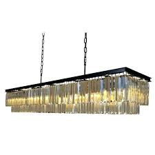 crystal chandelier toronto rectangular crystal chandelier inch