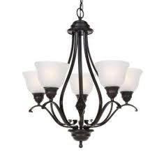 linda 5 light black chandelier