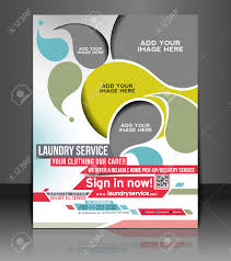laundry service flyer poster template design royalty laundry service flyer poster template design stock vector 26787704