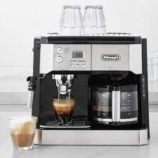 Other machines combine a proper drip coffee maker with an espresso machine. De Longhi All In One Combination Coffee Maker Espresso Machine Williams Sonoma