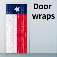 Door Wraps Texas Wooden Flag Door Wraps Rm Wraps