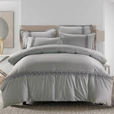 grey blue brown color 100 cotton embroidery bedding set queen king size bed set chinese style quilt duvet cover bedsheet set egyptian cotton duvet oversized