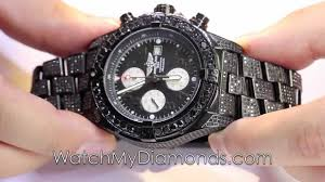 genuine mens black diamond watch breitling black pvd super genuine mens black diamond watch breitling black pvd super avenger 20 ct round cut