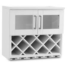 wine rack cabinet. NewAge Products Home Bar White Wall Wine Rack Cabinet