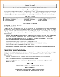 9 Financial Analyst Resume Sample Offecial Letter