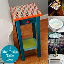13 mod podge table ideas you ll love