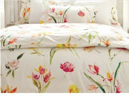 pine cone hill watercolor flowers twin duvet cover nwt