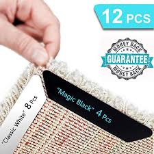 haioou rug gripper 8 4 pcs non slip rug corner grippers anti slip carpet tape grips advanced with renewable adhesive pad for hardwood floors ideal area
