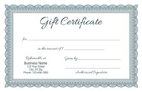 Formal Certificates Formal Gift Certificate Templates
