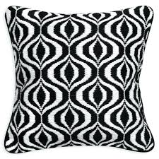 waves black and white throw pillow pillows fort edh