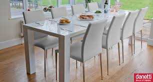 dazzling white modern dining set 29 extending table and chairs fair design ideas room perfect commbinatiosn