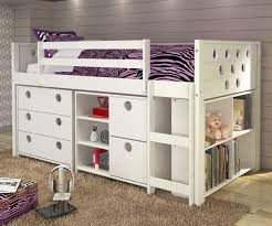 twin size circles low loft bed in white finish atwx  donco