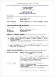 Example Of Pharmacist Resume Impressive Pharmacy School Resume Example For Pharmacist Resume 4