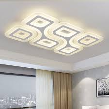 led super thin ceiling lamps 4 6heads modern living room ceiling light rectangular bedroom luminaire restaurant lighting kitchen pendant lighting kitchen