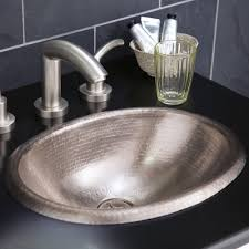 rolled baby classic 15 1 2 drop in oval copper bathroom sink
