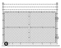 chain link fence rolling gate parts. Roll Gate Chain Link Fence Rolling Parts