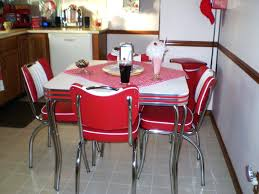furniture retro dinettes family dining solid top kitchen custom size for dinette sets red set chrome red dining room
