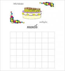 43 Birthday Calendar Templates Psd Pdf Excel Free Premium