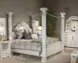 Silver Furniture Bedroom Aico Poster Bedroom Set Monte Carlo Ii In Silver Pearl Ai N530 03