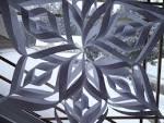 Huge snowflake decorations