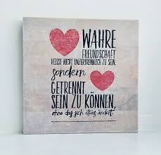 Holzbild Mit Sprüchen Wahre Freundschaft Geschenk Bild Spruch