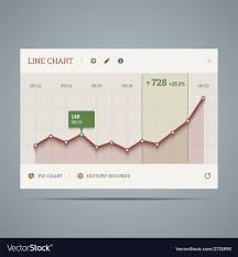 Chart Widget Widget With Growing Line Chart And Icons