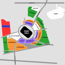 Fedex Field Landover Md Seating Chart Parking Washington Redskins Vs New York Giants Tickets Sun