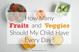 Fruit And Vegetable Challenge Chart Heres How Many Fruits And Vegetables Kids Need Every Day