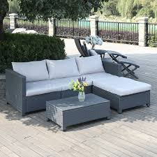 Mercury Row Lachesis 5 Piece Rattan Seating Group with Cushions