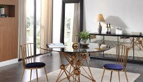 gold glass ashley transpa set and modern table cover coast seater diameter setting dining for room