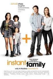 The film is based on a true story, and it is a sweet film about what a difference people can make in the lives of foster children. Instant Family Wikipedia