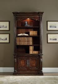 bookcases for home office. Hooker Bookcase Home Office Grand Palais Single Furniture With Dark Brown Elegant Wooden Style Classical Bookcases For F