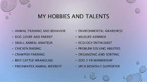 Hobbies For Resume Impressive Hobbies For Resumes Foodcityme