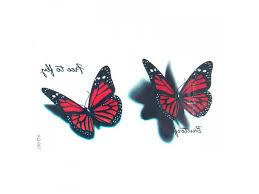 Barevné Tetování Motýl Aq 087