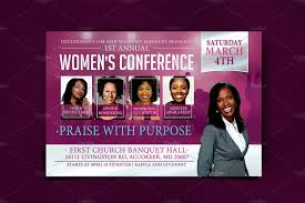 Womens Conference Flyer Template Suitable Market People