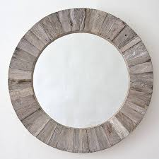 round wooden mirror by decorative mirrors online | notonthehighstreet.com