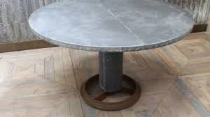charming design zinc top round dining table zinc top round dining table incredible com lewiston