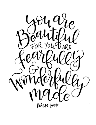Fearfully And Wonderfully Made Scripture Inspirational Quote