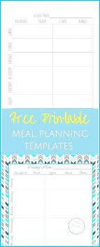 Weekly Menu Planner Template Free Editable Excel Blank Printable ...