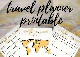 Free Trip Itinerary Planner Fabulous And Free Travel Planner Printable Ginger Voyager
