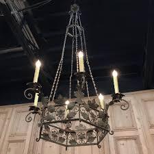 19th century italian wrought iron chandelier within 2018 wrought iron chandeliers view 1 of 20