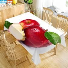 <b>Скатерть из ткани</b> Оксфорд с изображением яблок и фруктов на ...