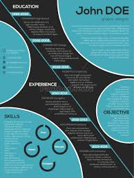 Resume Modern Ex Royalty Free Vector 14356359 Modern Resume Curriculum Vitae With Cool Circle Elements