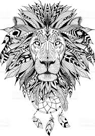 Aztec Dream Catcher Tattoo mediaistockphoto vectors detailedlioninaztecstylevector 14