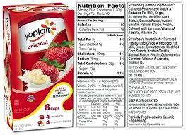 food label for yogurt yoplait list throughout food labels for yogurt 24036