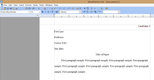 mla format using corel wordperfect mla format wordperfect mlafirstpage