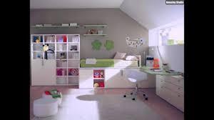 Buntes Kinderzimmer Einrichten Ideen Schönes Design Grasgrünes Bett