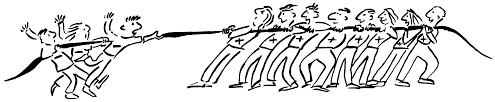 tug of war cartoon - Clip Art Library