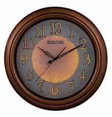 bulova c4852 key west wall clock brown