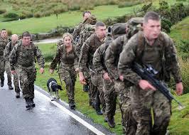 helen skelton attempts the royal marines 30 mile mando test royal navy